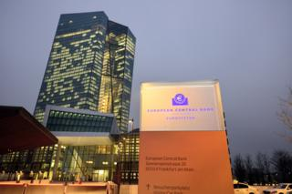 The new ECB headquarters in Frankfurt