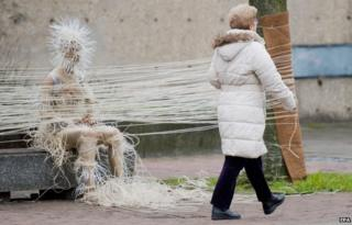 Sculpture by artist Kerstin Schulz in Hanover, Germany