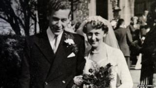 Bernard Jordan with his wife Irene