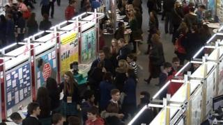 An overview of the projects on display at the Young Scientist and Technology exhibition