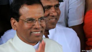 Sri Lankan president Maithripala Sirisena