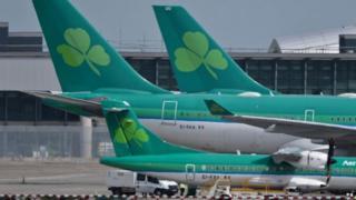 Aer Lingus planes on tarmac