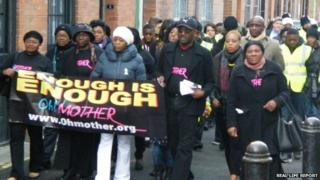 Campaigners march