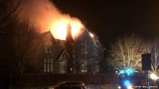 Peebles house fire