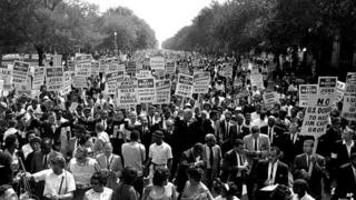 Protesters in Washington 1963