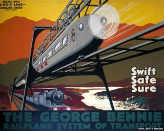 Bennie Railplane poster