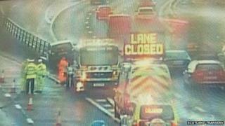M8 lane blocked