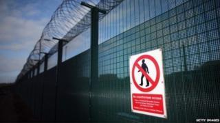 Sellafield site perimeter fence
