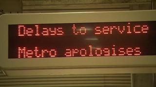 Metro delays sign