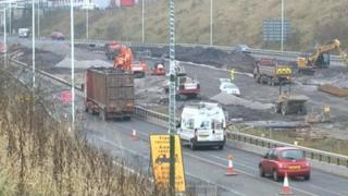Work on the A465