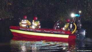 Emergency services search the River Taff