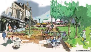 Harrogate Masterplan artist's impression