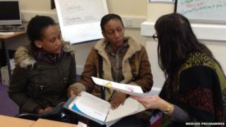 Women at a Bridges Programmes workshop