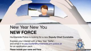 Humberside Police's job advert for the Deputy Chief Constable post