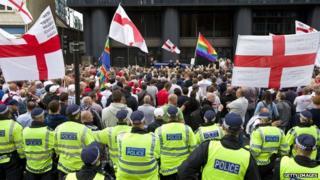 EDL demonstration in central London in September 2013