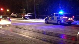 Cars sliding off the road at Gortlee
