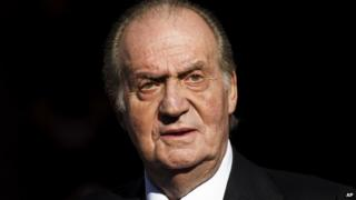 Juan Carlos pictured while still king in 2011