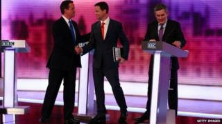 Political leaders' debates at last general election