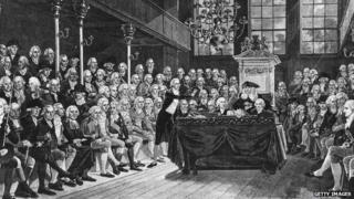 William Pitt speaking in Parliament