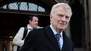 Max Mosley arrives at the High Court in London