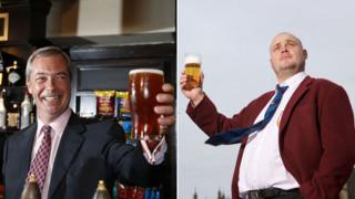 Nigel Farage and Al Murray