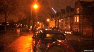 Police helicopter over Grangetown