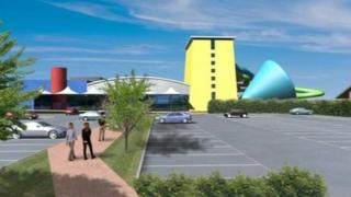 Artists impression of waterpark