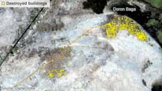 Satellite image of Baga and Doron Baga