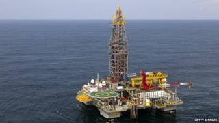 Tullow Oil platform in French Guiana
