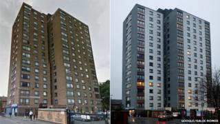 Riverbank Tower before and after development work