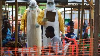 MSF Ebola workers in Sierra Leone