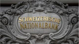 Swiss National Bank sign