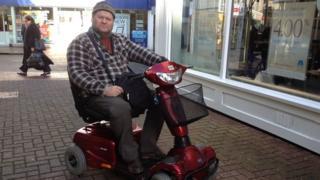 Ronald Case, Taunton Shopmobility user