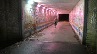 Underpass on the way to Bassaleg school
