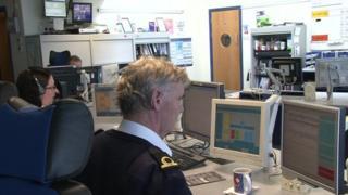 Liverpool Coastguard station's emergency call handlers
