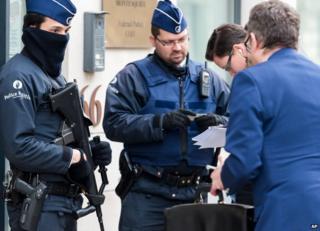 Belgian police in Brussels