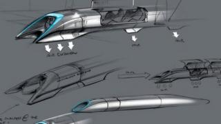 Concept drawing of Hyperloop