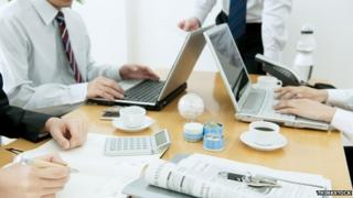 white collar workers in office