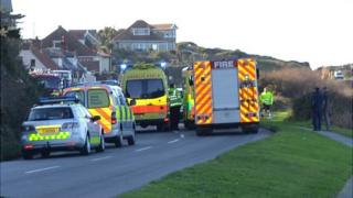 Emergency services attending road traffic collision near Albecq