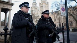 Police near French school in London