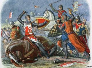 De Montfort at the Battle of Evesham