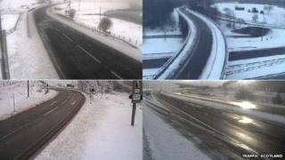 wintry weather conditions on Scotland's roads