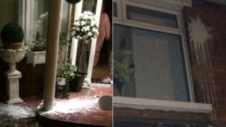 Paint thrown at house