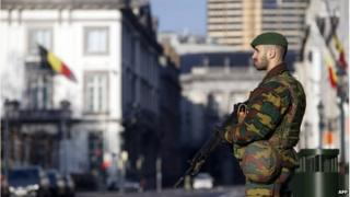 Soldier in Brussels, 17 January 2015