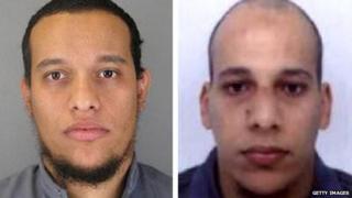 Police picture of Cherif Kouachi (right) and Said Kouachi