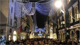 Bond street at Christmas