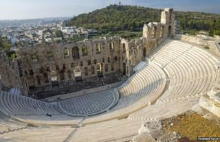 Acropolis amphitheatre. Athens