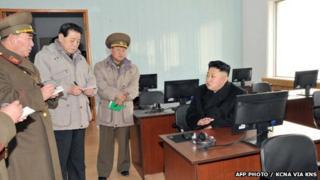 Kim Jong-un at computers