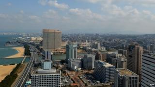 A view of Fukuoka