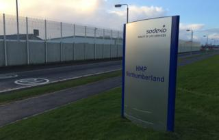 Sign outside HMP Northumberland